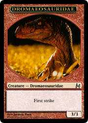 JP MTG- Raptor Token by LordSethD