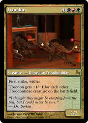 JP MTG- Troodon by LordSethD