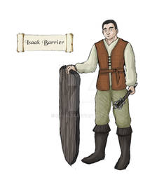 Concept art tabletop RPG - character Isaak Barrier