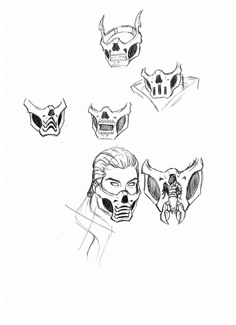 Fem Mk Scorpion Mask Designs By Thesadisticsamurai On Deviantart