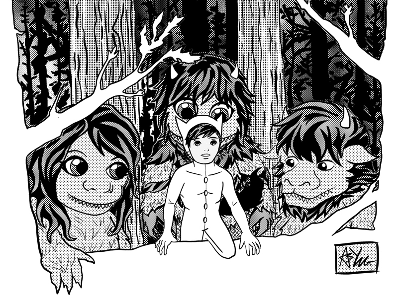 Where the wild things are by indigoboyblue on deviantart for Where the wild things are black and white coloring pages