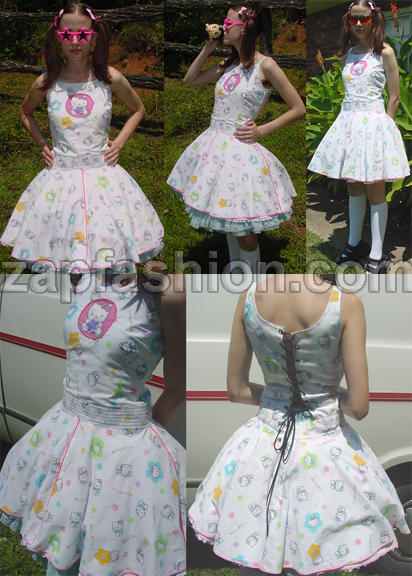 adb5a81fb4 poofy hello kitty dolly dress by ~starfaerie on deviantART