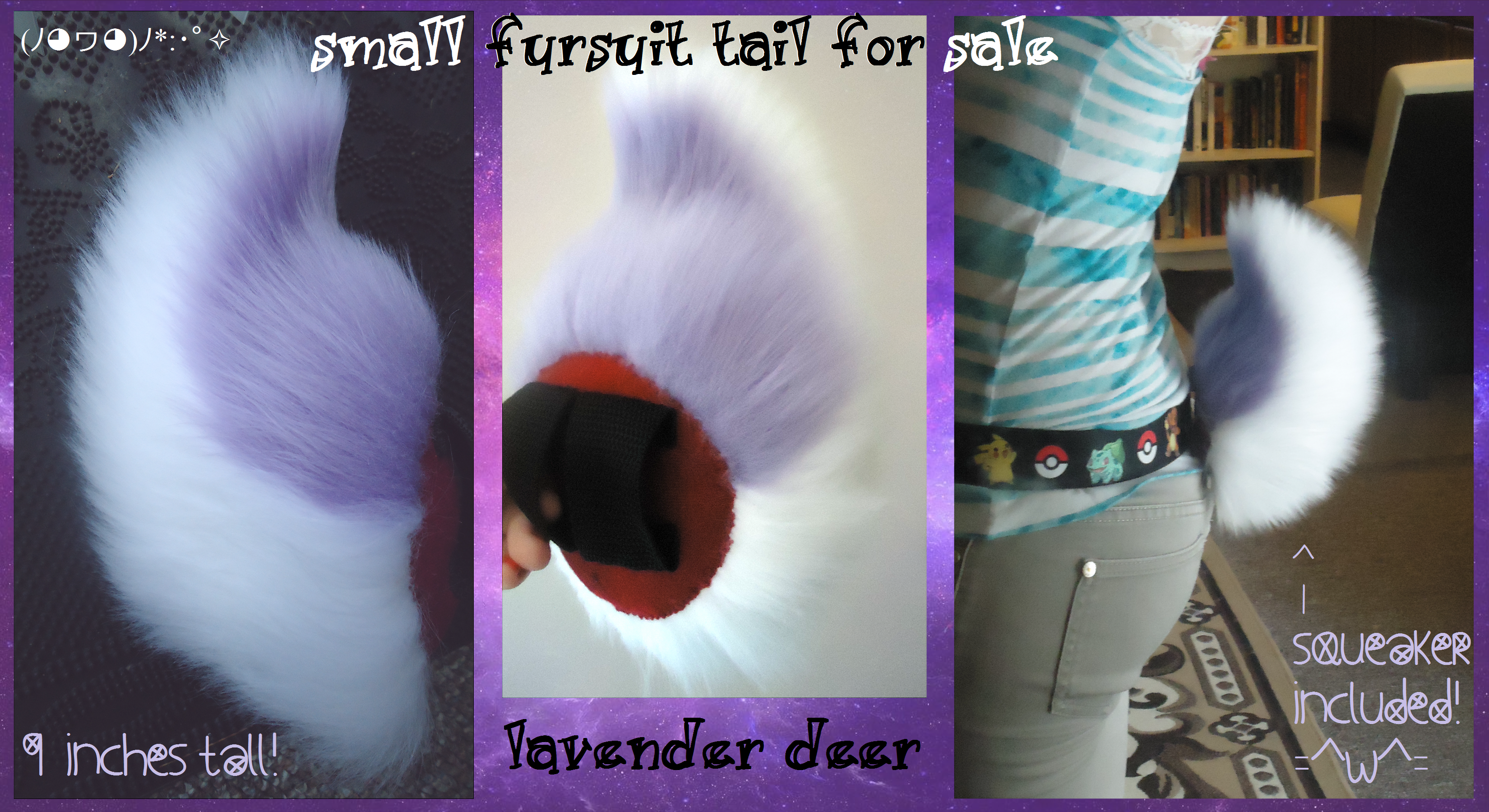 sold) lavender deer/rabbit/goat tail by QueenAyria on DeviantArt: queenayria.deviantart.com/art/sold-lavender-deer-rabbit-goat-tail...
