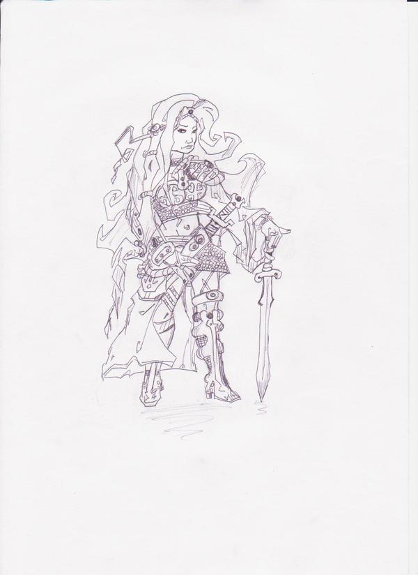 Warrior Lady by Preda8