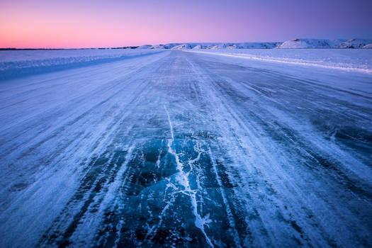 Ice Road at Noon