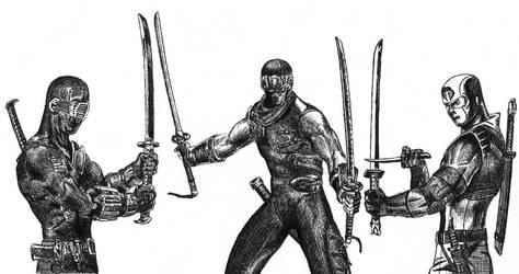 3 ninja's match by Skyvvards