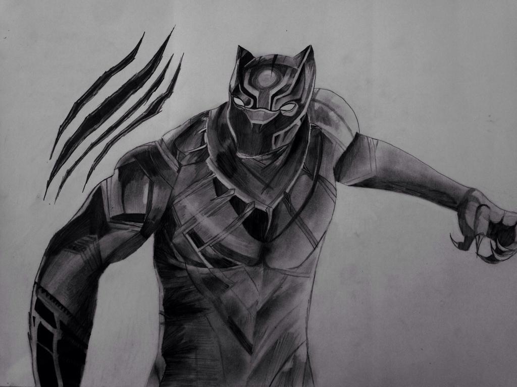 Black Panther By Portela On Deviantart: Black Panther Drawing By CreepypastaProxyfan On DeviantArt