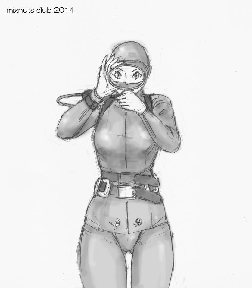 Diver girl sketch by mixnuts