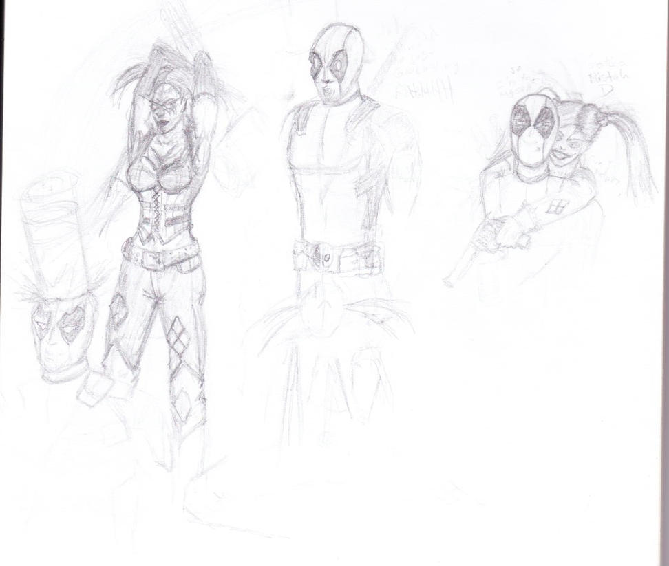 Harley Deadpool by Chipontalas1701