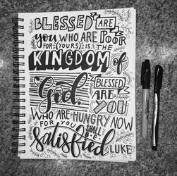 Luke 6:20-21 Handlettering by with-all-heart