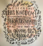 Matthew 6:33 Handlettering by with-all-heart