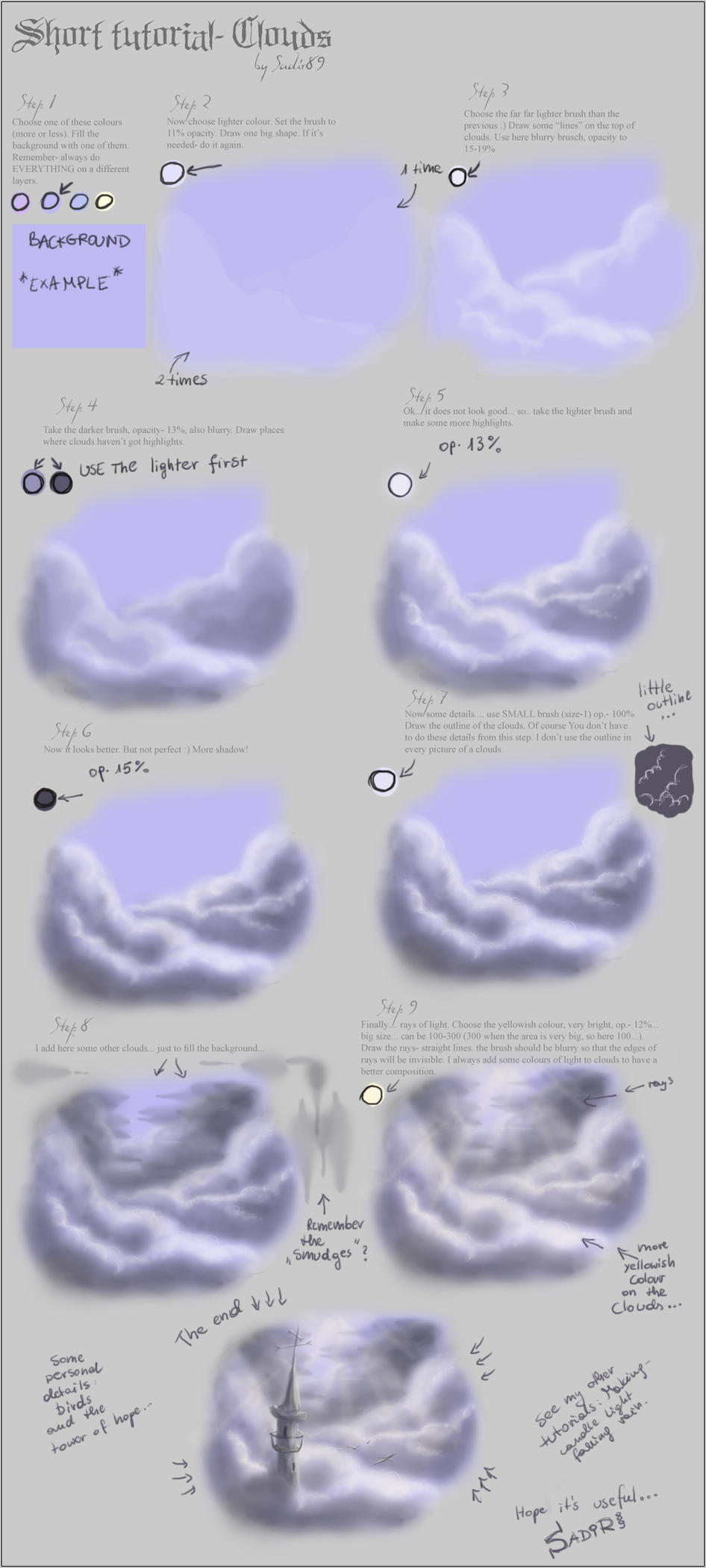 Short tutorial- Clouds by Sadir89