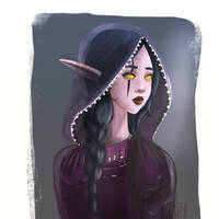 Night elf sorceress by diananemesu