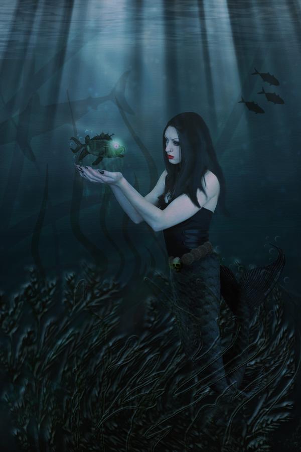 dark mermaid by silverelfshadows on deviantart