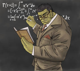 Professor Hulk by Gilliland35
