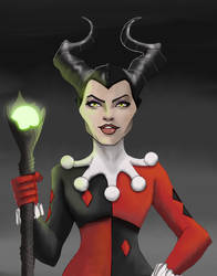 Maleficent Harley Quinn by Gilliland35