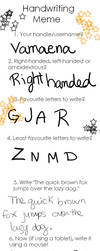 Handwriting meme by Vamaena
