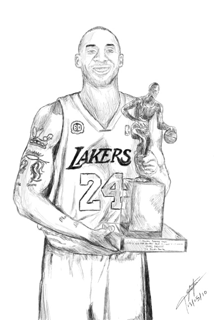 kobe bryant coloring pages - kobe bryant drawing 2 by hyperion ogul 92 on deviantart