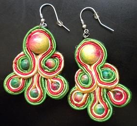 Soutache earrings n3 by X-Rouge-X
