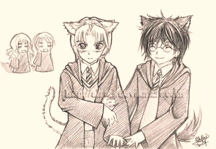 ::Harry+Draco:: doodle for XY by ahpai