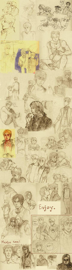 usuk and merlin sketches