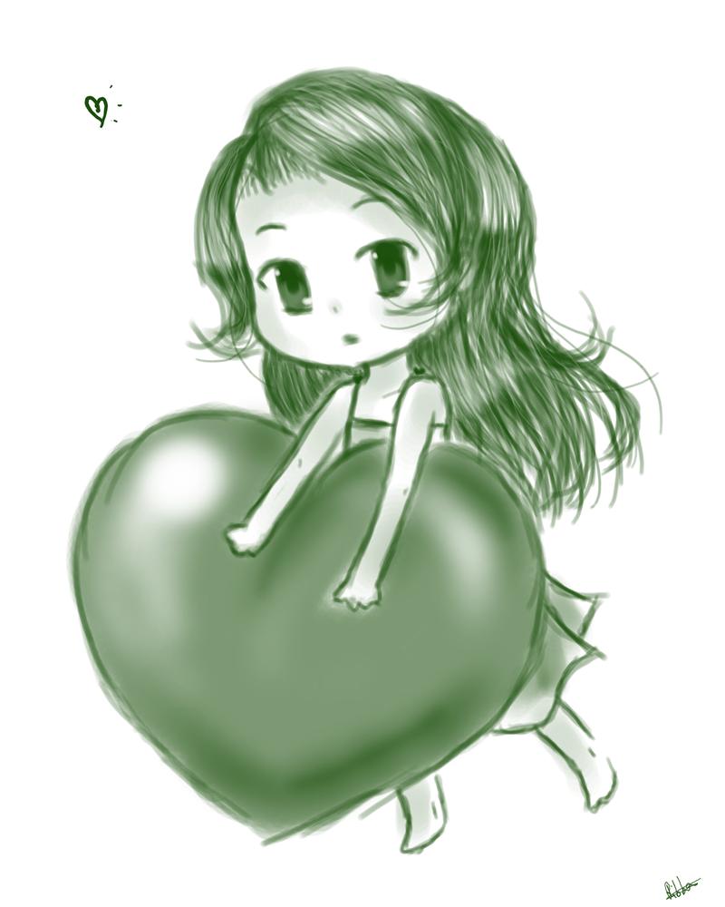Little (Big) Heart by DarkRedRibbon