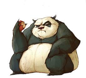 not-so-adorable panda by E-a-s-y
