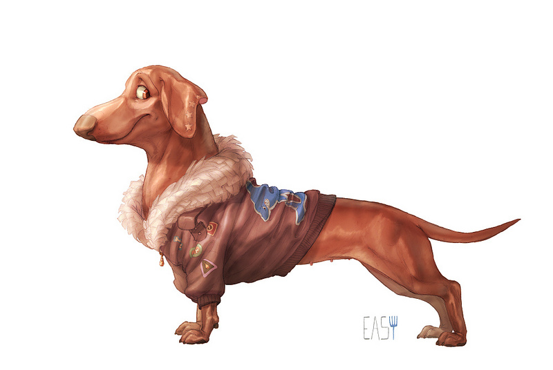 dachshund by E-a-s-y
