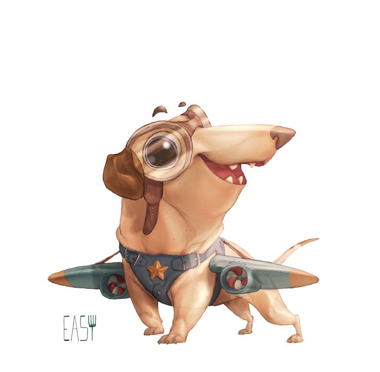 dachshund 2 by E-a-s-y