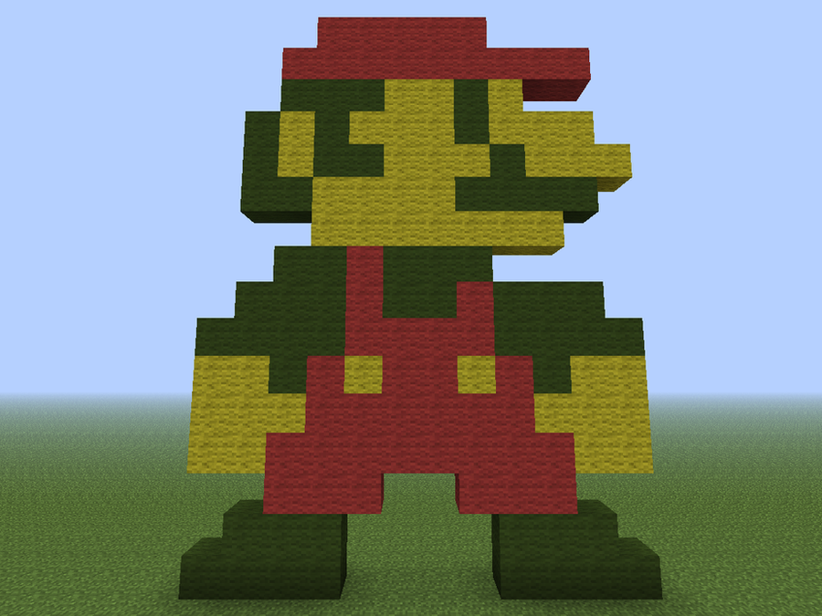 Mario Sprite, from Super Mario Bros. [Minecraft] by conxdemixta