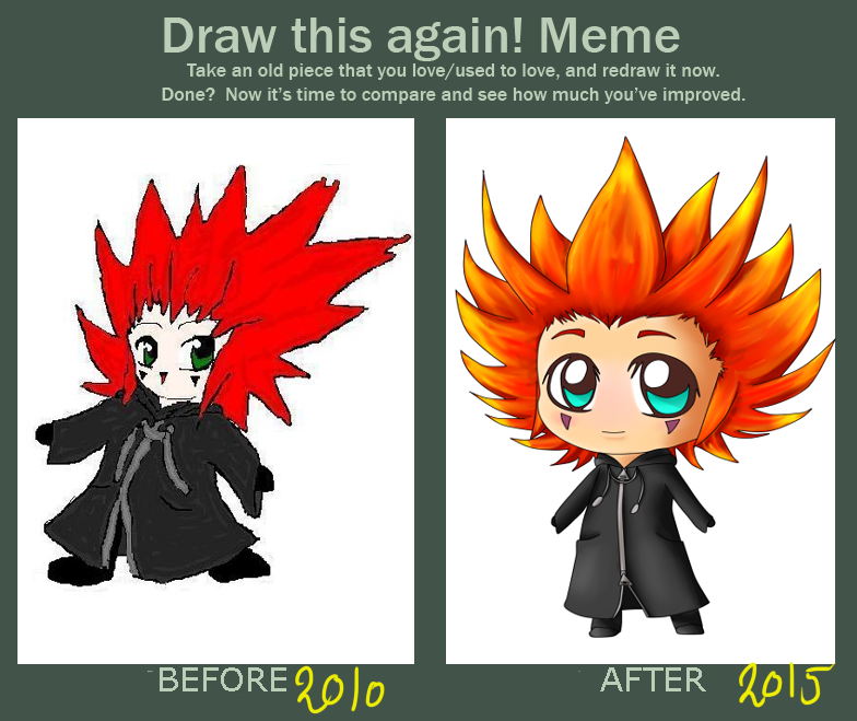 Draw this again! Axel by SilverFei