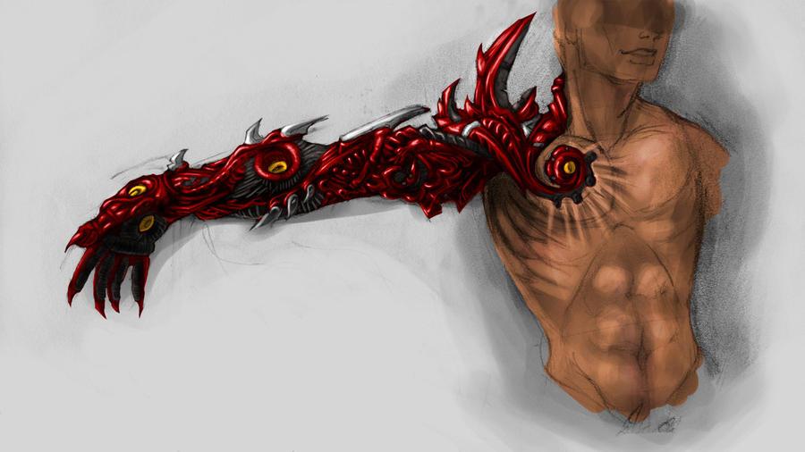 Demon Arm Concept by Jackalopette