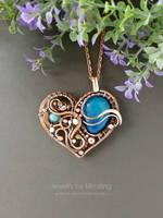 Heart shape pendant by mirraling