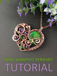 Wire wrapped heart pendant tutorial by mirraling