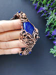 Cuff bracelet with lapis lazuli by mirraling