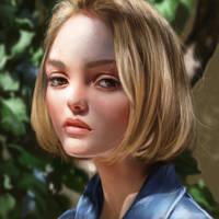 Lily Rose Depp Study by holyroseholy