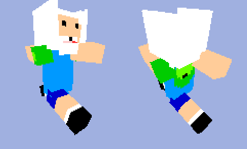 Finn the Human Minecraft skin by Jaelachan