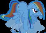 Wet Rainbow dash Complete