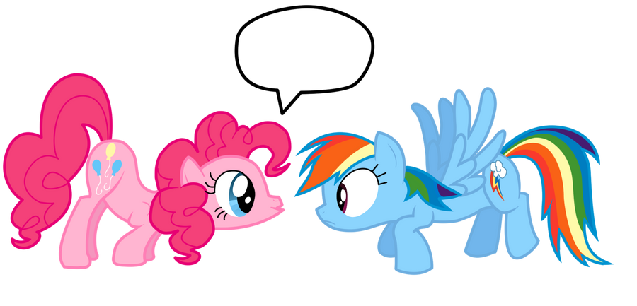 Pinkie Pie + Rainbow dash by Jaelachan