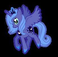 Melancholy Princess Luna by Jaelachan