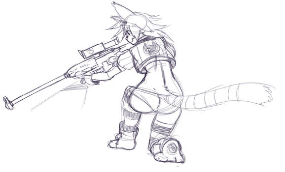 Un-named un-colored Catgirl + Snipers