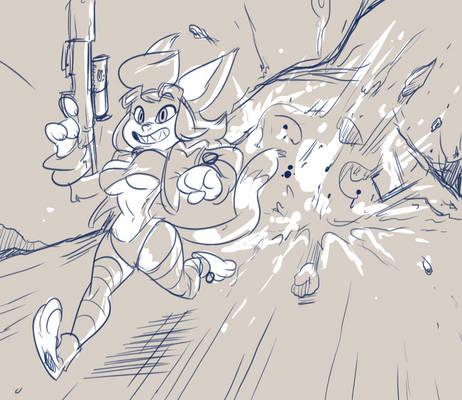 Unnamed Catgirl.. Cavesplosion!