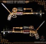 steampunk raygun prop