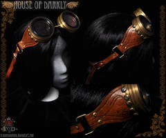steampunk scratchbuilt goggles by brokensymphony