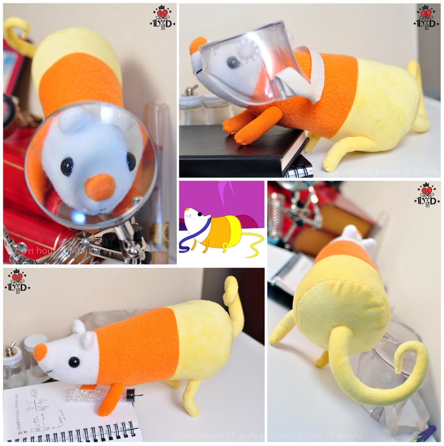 AT: Science the Rat plush by brokensymphony