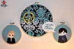 Sherlock: The Wall Had it Coming applique triptych