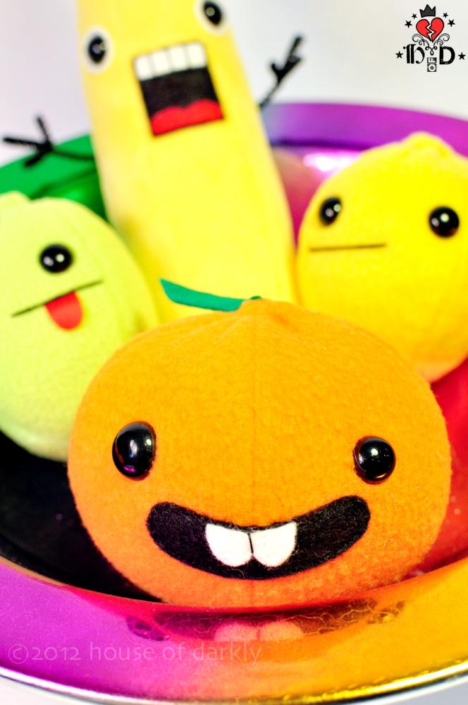 derpy smile Florida Orange plush by brokensymphony