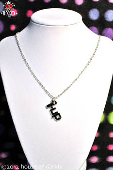 1UP one-up pixel necklace