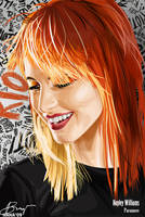 Hayley Williams Vector -hana by rhobdesigns