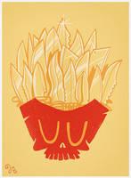 FAST FOOD KILLS (French Knives) by rhobdesigns